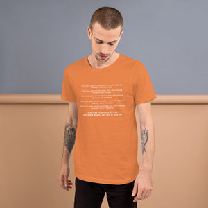 """and then they came for me"" Valentino Unlimited Short-Sleeve Unisex T-Shirt - Valentino Unlimited"