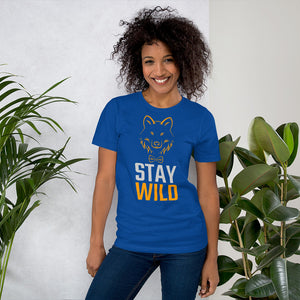 Stay Wild Wolf in a Bowtie Short-Sleeve Unisex T-Shirt - Valentino Unlimited