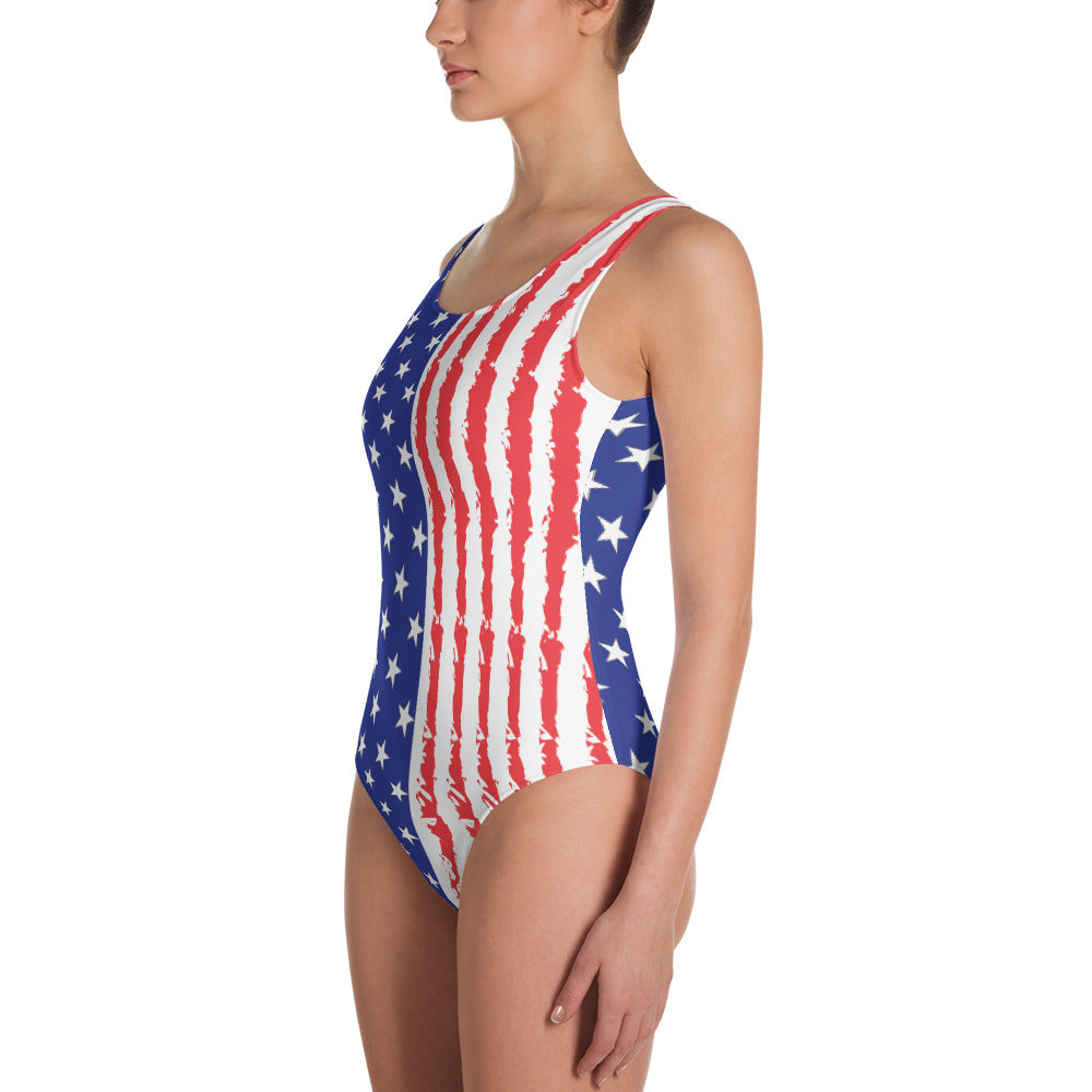 Stars and Stripes One-Piece Swimsuit - Valentino Unlimited