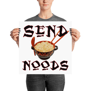 Send Noods Poster - Valentino Unlimited