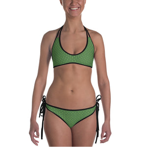 Green Bamboo Weave Bikini - Valentino Unlimited