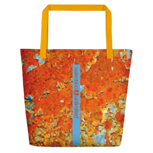 Light Blue Rust Beach Bag