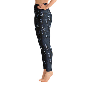 Asphalt Raindrops Yoga Leggings - Valentino Unlimited