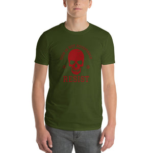 This is not acceptable RESIST Skull Short-Sleeve T-Shirt - Valentino Unlimited