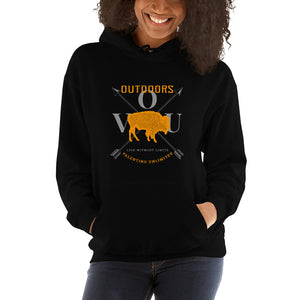 VUO Bison Over Crossed Arrows Hooded Sweatshirt