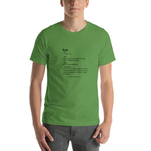 fuck defined Short-Sleeve Unisex T-Shirt - Valentino Unlimited