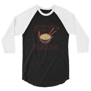 Send Noods 3/4 sleeve raglan shirt