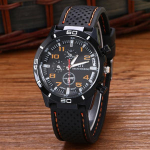 Men's Quartz Military Sport Wristwatch with Silicone Band - Valentino Unlimited