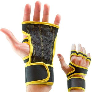 Cross Training Silicone Padded Gloves with Wrist Support