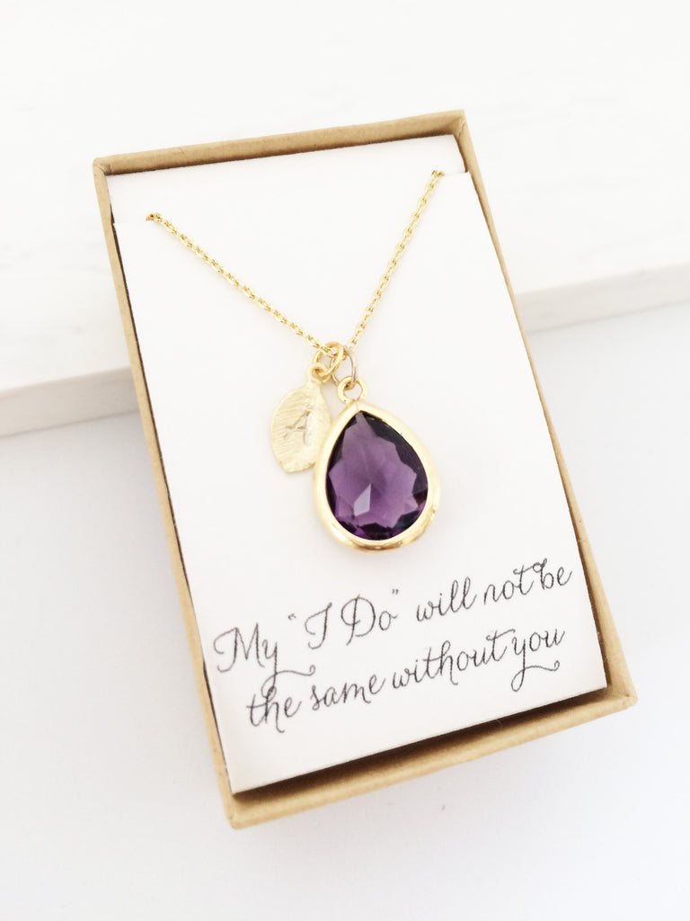 Amethyst gold teardrop necklace house of lato amethyst gold teardrop necklace amethyst gold teardrop necklace mozeypictures Gallery
