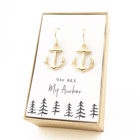 Anchor Gold Earrings