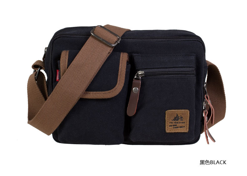 Vintage Canvas Shoulder Bag Handbag Messenger Sling School Bags Tool Bag