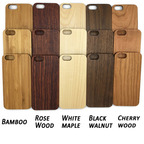 Wood veneer with plastic chassis. Choice of woods