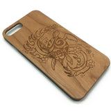 Sea Turtle Tribal Tattoo Sea Hawaiian Honu Fish Wood Case Cover