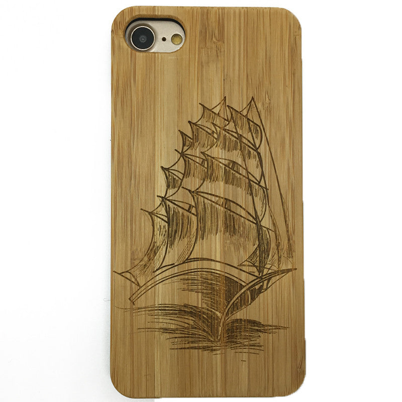 Sailing Boat (Z40) - wood wooden phone cover case-jiacase