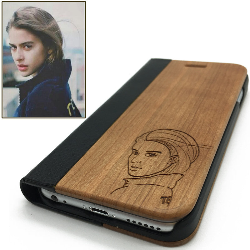 Personalized photo(Z02) - wood wooden phone cover case-jiacase