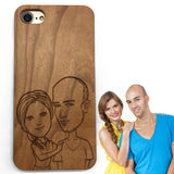 Engraved in cute style (Z01) - wood wooden phone cover case-jiacase
