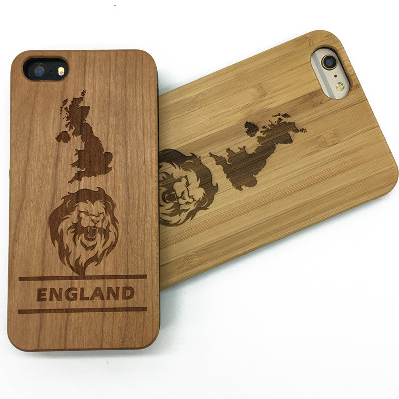 England symbol (Y016) - wood wooden phone cover case-jiacase
