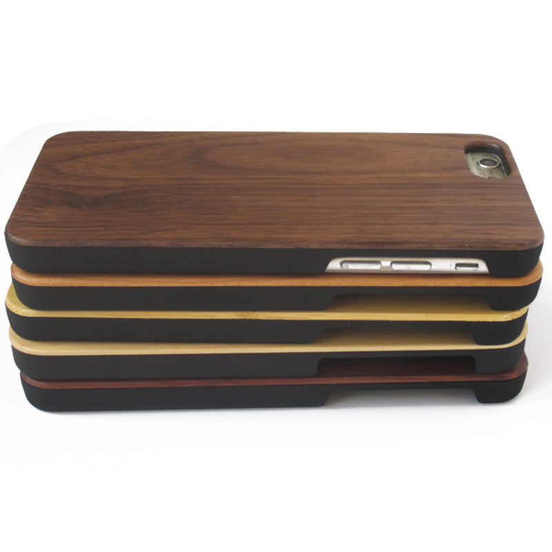 iPhone Real Wood with Soft PC Cover (P02)