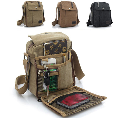 Multifunctional Bag Men's Women's Retro Small Canvas Cross Body Bag