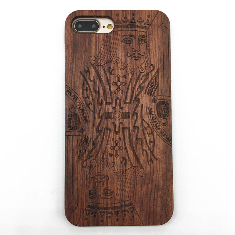 Playing card K king (Y023) - wood wooden phone cover case-jiacase