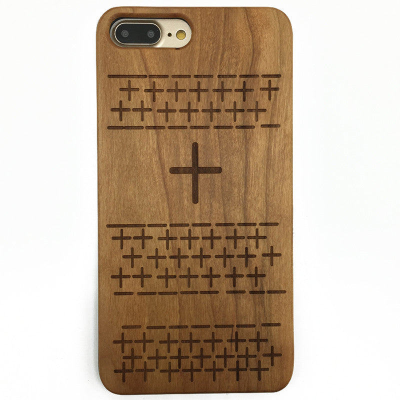 Cross (Z27) - wood wooden phone cover case-jiacase