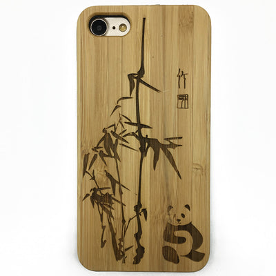 Panda wood iphone cases wood iphone 7 case,wood samsung galaxy cover