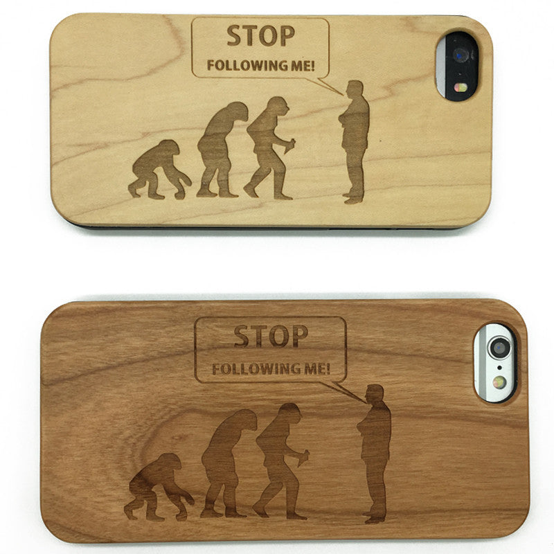 Evolution (Y031) - wood wooden phone cover case-jiacase
