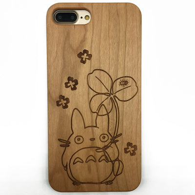 My Neighbor Totoro wooden phone case cover for iPhone Samsung galaxy