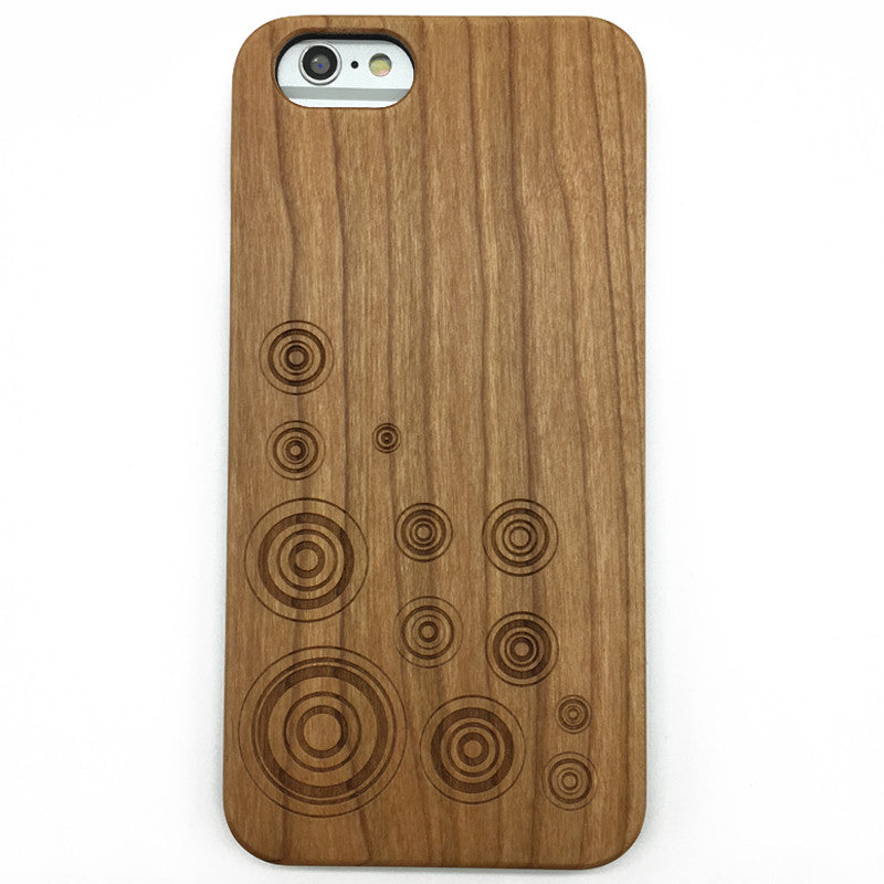 Geometry circle (Z16) - wood wooden phone cover case-jiacase