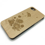 Sunflower pattern (Z14) - wood wooden phone cover case-jiacase