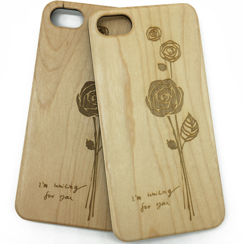 Rose (Z26) - wood wooden phone cover case-jiacase
