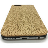 Leaves Pattern Wood Wooden Phone Case for iPhone 7/7plus and Samsung