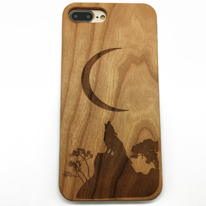 Wolf Moon Wood Case Howling Full Moon Wolves Were wolf Spirit Animal