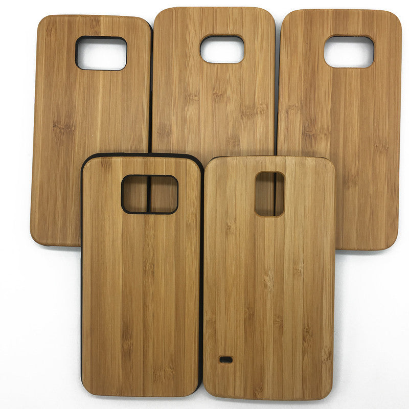 Samsung S7/S6 Edge S5 Real Wood with Soft PC Cover (P09)