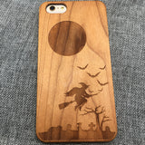 Halloween (Y032) - wood wooden phone cover case-jiacase