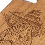 Whale Sea Boat iPhone7 Case Wooden Wood 6 6S Plus 5 Gift Samsung Galaxy S7 Edge