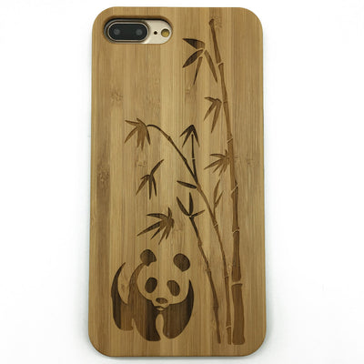 Panda (Y025) - wood wooden phone cover case-jiacase