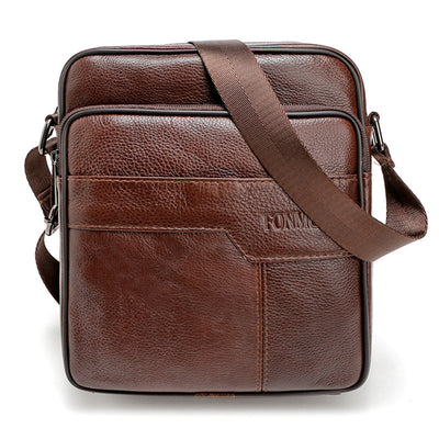 Vintage Men's Brown Genuine Leather Cross Body Messenger Shoulder Bag