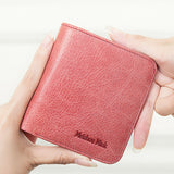 Genuine Leather Wallet Mini Short Purse For Women Lady New