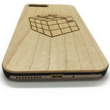 Rubik's Cube wood phone case iphone wooden cover iphone 7,7plus,6,6S