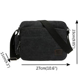 Men's Multifunctional Canvas Messenger Bag Shoulder Crossbody Side Bag