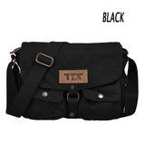 Men's Women Canvas Shoulder Messenger School Book Bag Satchel Crossbody bag (GY01)