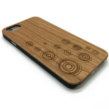 Geometry circle Geometric Wood Phone Case Engraved iPhone Case Samsung