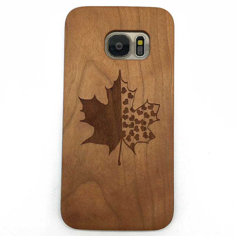 Maple (Y030) - wood wooden phone cover case-jiacase