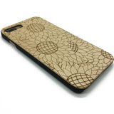Sunflower Pattern wood phone case iPhone 7 7Plus Galaxy S7 Galaxy S6