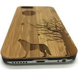Wooden Case Howling Full Moon Wolves for IPhone7/7plus ,Samsung Galaxy