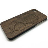 Cobra Engrave Snake tatoo pattern on Wooden phone case for iphone 7/7p