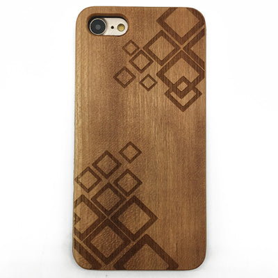 Geometric (Y043) - wood wooden phone cover case-jiacase