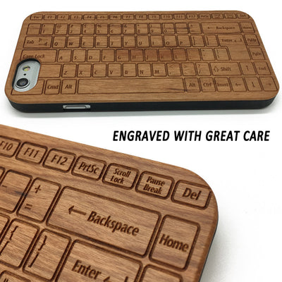 Keyboard (Y039) - wood wooden phone cover case-jiacase